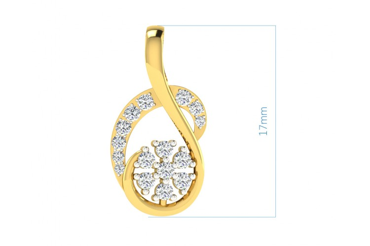 Leba diamond Pendant In gold